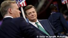 CLEVELAND, OH - JULY 17: Paul Manafort (R), campaign manager for Republican presidential candidate Donald Trump, is interviewed by journalist John Dickerson (L) on the floor of the Republican National Convention at the Quicken Loans Arena July 17, 2016 in Cleveland, Ohio. The Republican National Convention begins tomorrow. (Photo by Win McNamee/Getty Images) Getty Images/W.McNamee