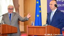 Der deutsche Außenminister zu Gast bei dem moldauischen Premierminister Pavel Filip in der Hauptstadt Chisinau