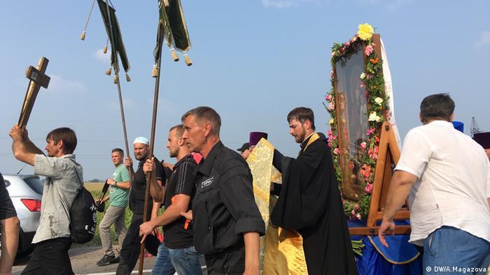 Учасники хресної ходи УПЦ МП