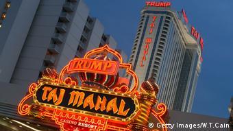 Die Immobilien des Donald Trump Trump Taj Mahal USA
