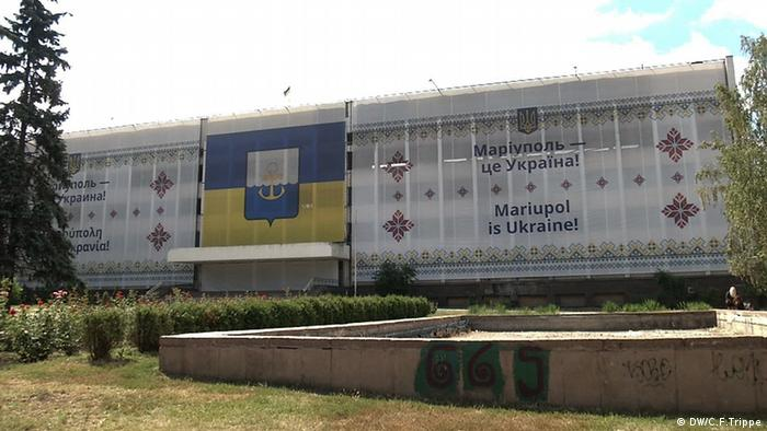 Mariupol Ukraine Polizeipräsidium in Mariupol