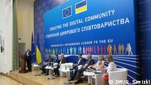 Ukraine Konferenz Creating the digital community in Kiew Diskussionspanel