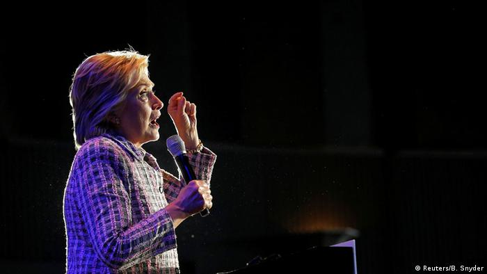 USA Wahlen Hillary Clinton in North Carolina