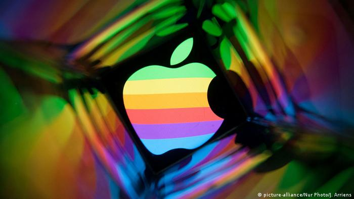 Buntes Apple Logo (Foto: picture-alliance)