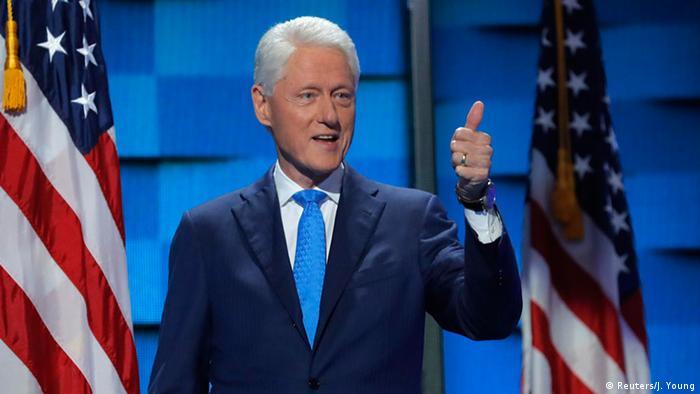 USA Wahlen Parteitag der Demokraten in Philadelphia Bill Clinton