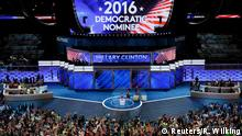 26.07.2016 ***** Delegates cheer at the annoucement that Hillary Clinton is named the Democratic Party nominee for president at the Democratic National Convention in Philadelphia, Pennsylvania, U.S., July 26, 2016. REUTERS/Rick Wilking Copyright: Reuters/R. Wilking