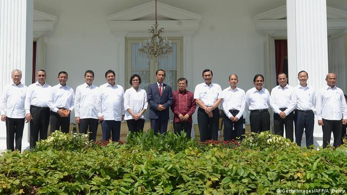 Indonesien Kabinett Minister in Jakarta