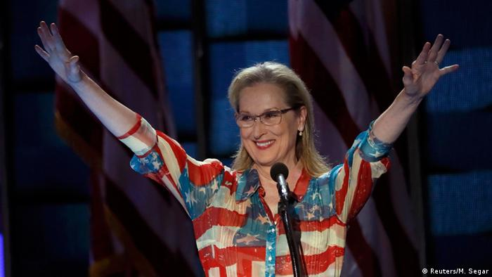 Meryl Streep at the Democratic National Convention, Copyright: Reuters/M. Segar