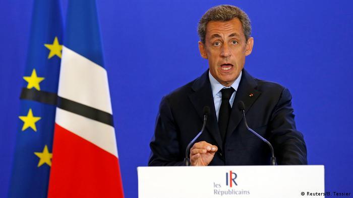 Frankreich ehemaliger Präsident Nicolas Sarkozy