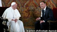 Papst Franziskus bei Polens Staatspräsident Andrzej Duda im Wawel, der alten polnischen Königsburg in Krakau