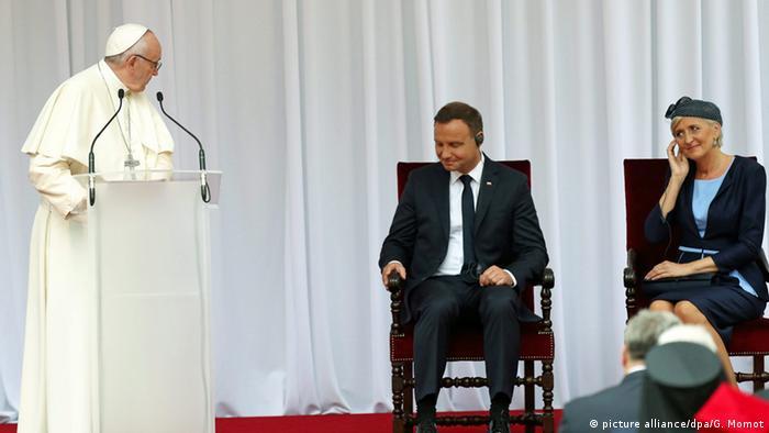 Polen Weltjugendtag 2016 in Krakau Papst Franziskus und Andrzej Duda