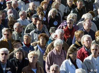 Número de idosos é cada vez maior na Alemanha e continuará crescendo