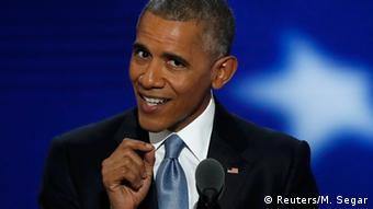 Barack Obama und Hillary Clinton Democratic National Convention USA Rede