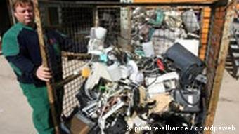 Electric appliances in a recycling plant
