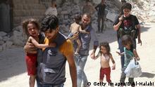 Kinder leiden besonders unter den Schrecken des Krieges (Archivbild)