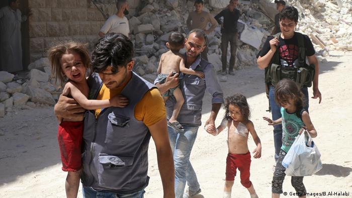 Syrien Bombardierung Aleppo
