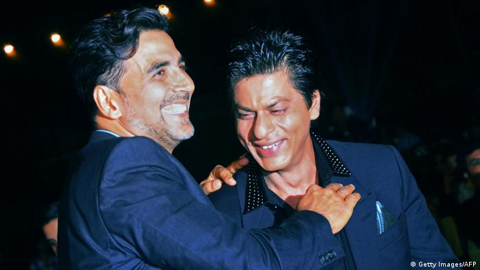 Bollywood Schauspieler Akshay Kumar und Shah Rukh Khan