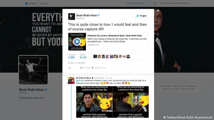 Screenshot Twitter Account Shah Rukh Khan
