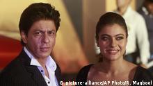 Bollywood Schauspieler Shah Rukh Khan und Kajol Devgan