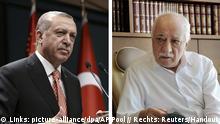 Bildkombo Recep Tayyip Erdogan und Fethullah Gülen
