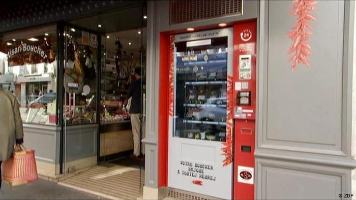 Vending machine for French meat fans (Photo: ZDF)
