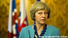 Britische Peremierministerin Theresa May in Bratislava (Getty Images/AFP/S. Kubani)