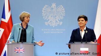 Polen britische Premierministerin Theresa May in Warschau