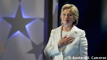 Hillary Clinton Democratic National Convention USA Ankunft