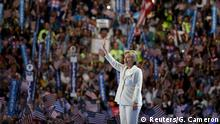 Hillary Clinton Democratic National Convention USA Begrüßung
