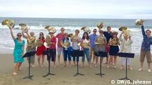 USA Sarah Willis mit jungen Hornisten bei der Music Academy of the West in Santa Barbara