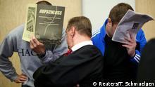 Deutschland Gerichtsprozess gegen russische Hooligans in Köln