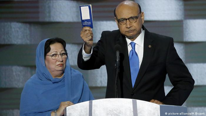 Khizr Khan Rede Ghazala Khan USA