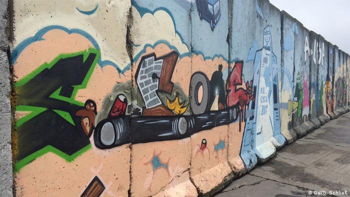Участок Берлинской стены на территории комплекса Alba