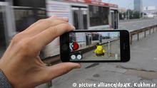 19.07.2016*** NOVOSIBIRSK, RUSSIA - JULY 19, 2016: The Pokemon Go location based mobile game running on a smartphone. The application, developed by Niantic, allows to catch and train Pokemons using a phone's GPS and camera. The game is available for iOS and Android devices. Kirill Kukhmar/TASS   picture alliance/dpa/K. Kukhmar