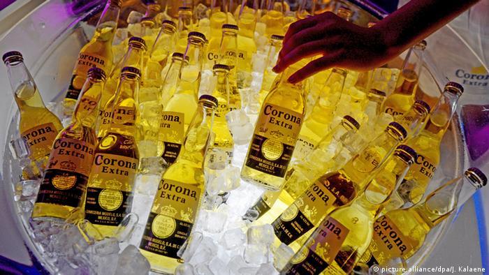Mexican beer on display during Berlin fashion week