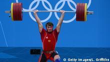 Olympia 2012 - russischer Gewichtheber Apti Aukhadov