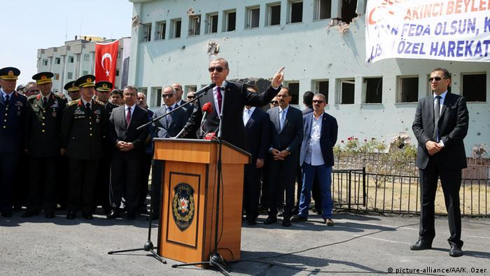 Erdogan speech at police headquarters in Ankara