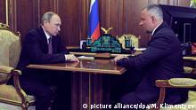 Russland Putin und Yevgeny Zinichev