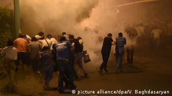 Столкновения демонстрантов с полицией в Ереване