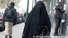Frauen im Niqab Belgien Brüssel