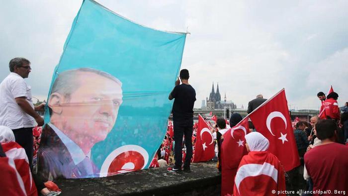 Ato de apoio ao presidente turco