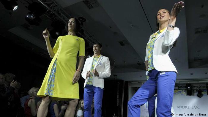 Olympische Spiele Eröffnungszeremonie-Einkleidung Ukraine