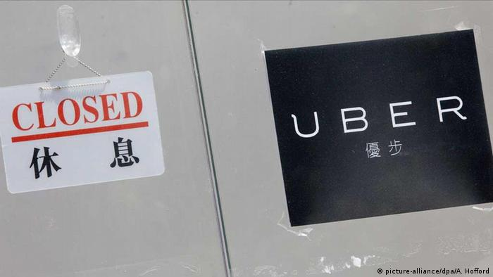 China Uber-Schild (picture-alliance/dpa/A. Hofford)
