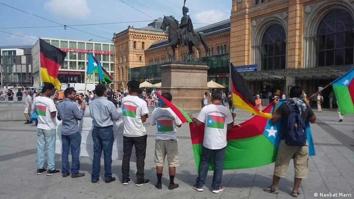 Baloch demonstration in Düsseldorf (Photo: DW/Tauqeer)