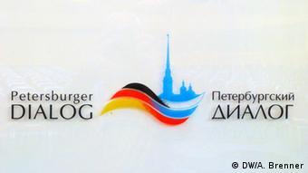 Russland St. Petersburg Logo des Petersburger Dialogs