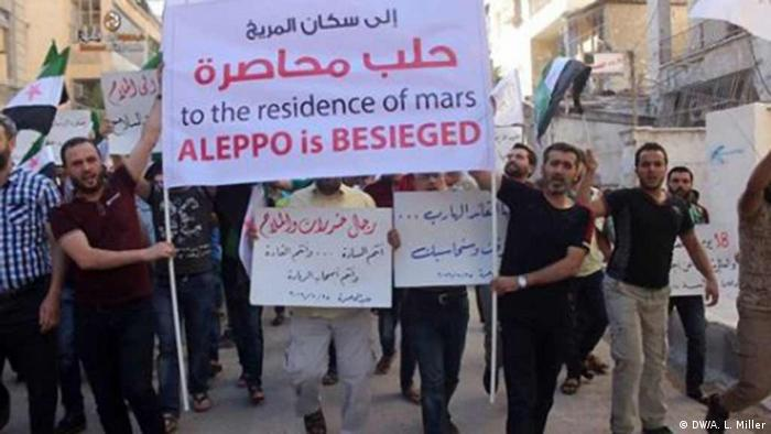 Ситуація в Алеппо погіршується з кожним днем, тому жителі міста протестують