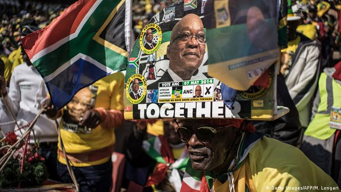 ANC supporters in South Africa