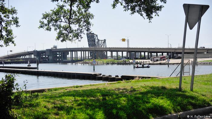 The Lake Borgne Surge Barrier in New Orleans (Picture: H. Fuller-Love).