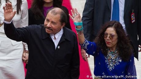 Daniel Ortega und Rosario Murillo (picture-alliance/dpa/M. Gutierrez)