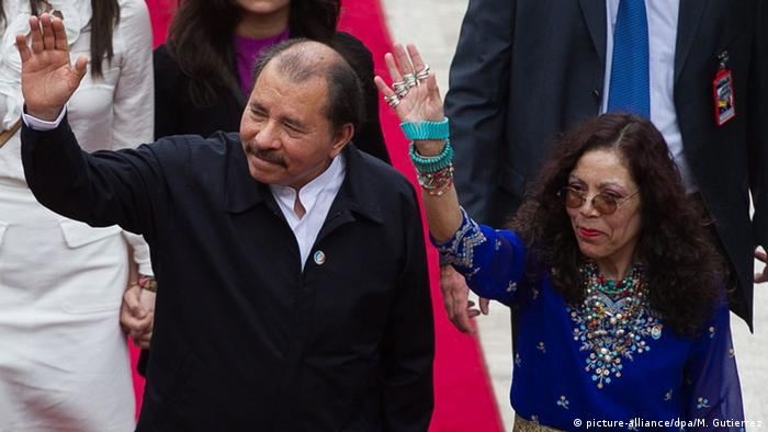 El presidente de Nicaragua, Daniel Ortega, y su esposa, Rosario Murillo